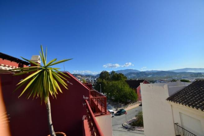 Enjoy views to the mountains too from the terrace