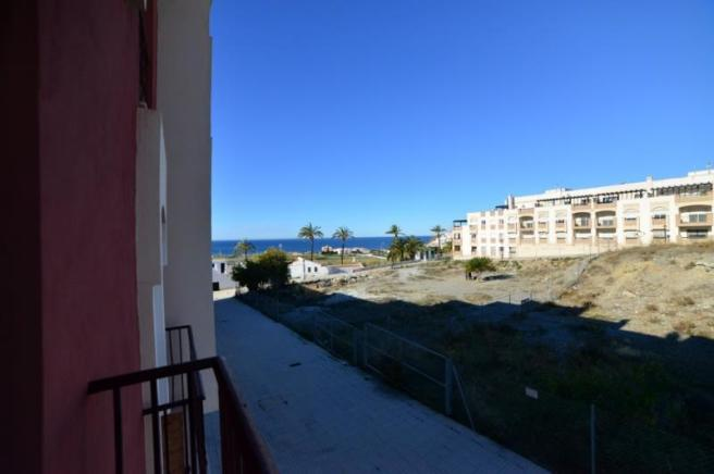 Sea views from the balcony of two bedrooms