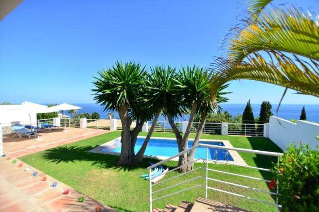 Lovely pool terrace with spectacular sea views