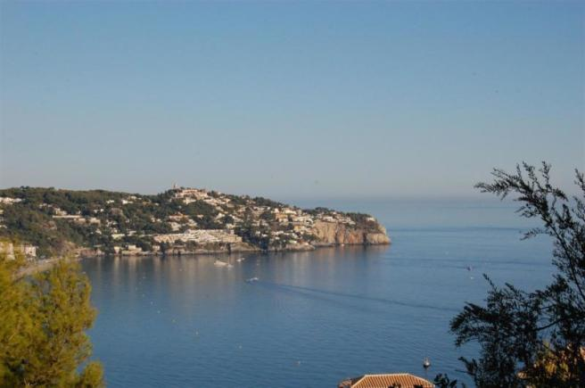 View to the beautiful bay of La Herradura