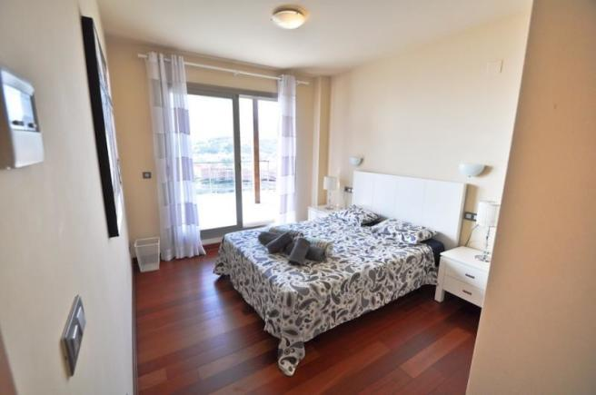 1 of 3 bedrooms in main house with terrace