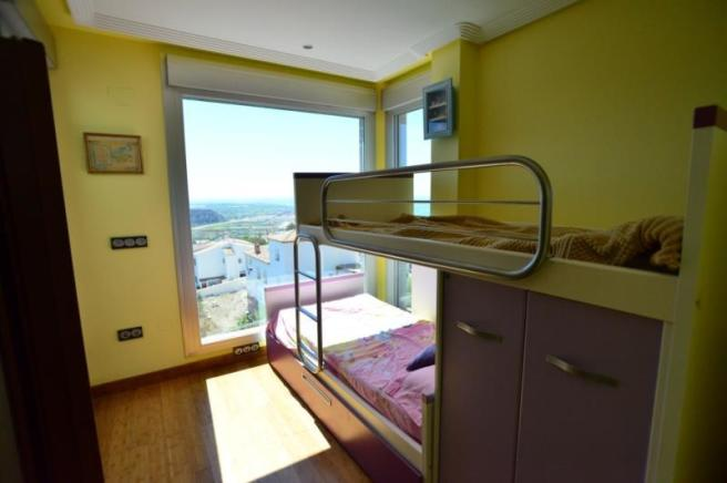 Bedroom 3 with ensuite bathroom and amazing views