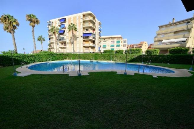 One of 2 communal pools