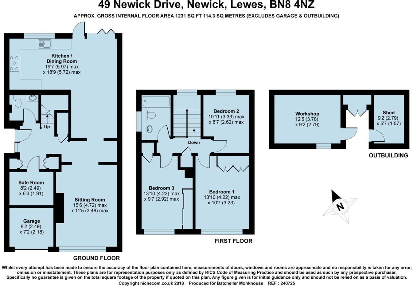 3 bedroom semi-detached house for sale in Newick Drive, Newick, BN8