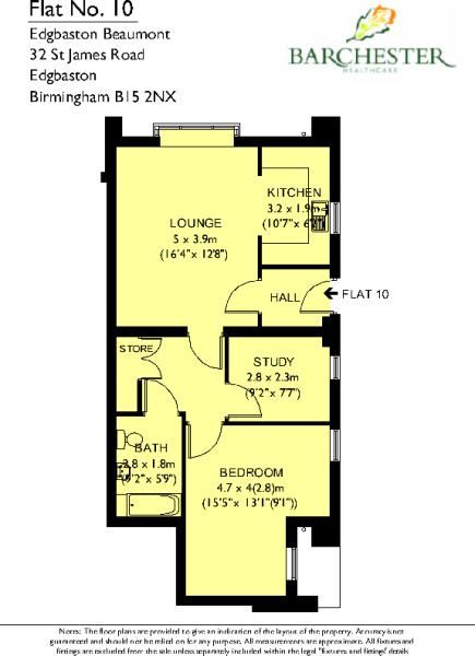 Flat 10 Floorplans