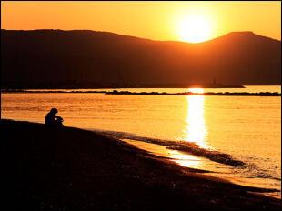 Local sunset