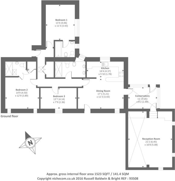 Floor Plan Meadow Cottage