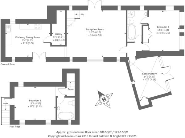 Floor Plan-Wheatsheaf Cottage