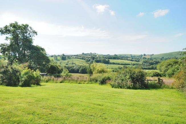 Views from the large garden with potential paddock