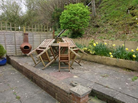 Private rear terrace
