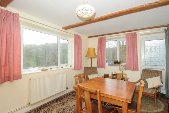 Separate dining room overlooking the garden