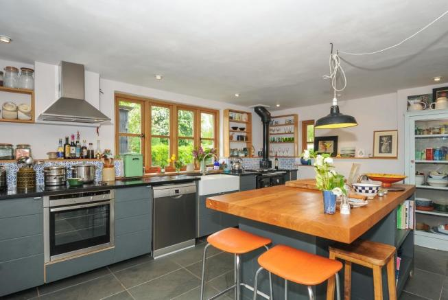 Well appointed kitchen with Aga