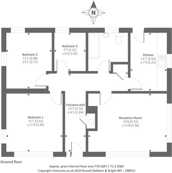 Floor plan of main bungalow