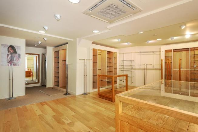 Retail area with high quality fittings