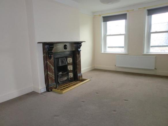 Living room with period fireplace