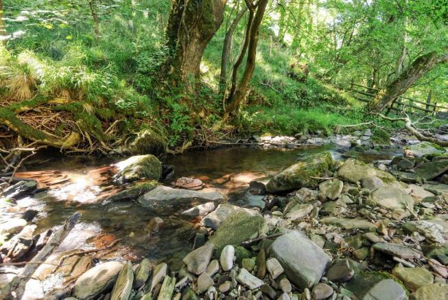 Stream running down the valley