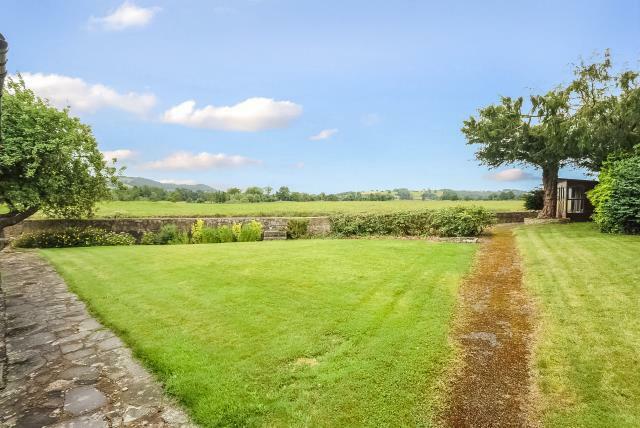 Views from the garden over the river meadows