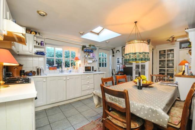Dining area within spacious kitchen