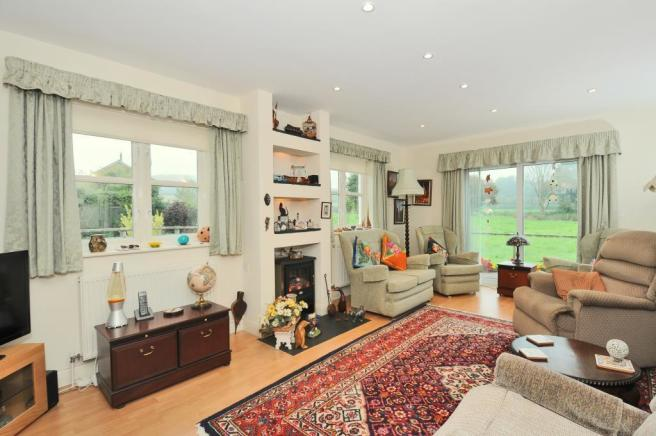 Sitting room with windows on two sides