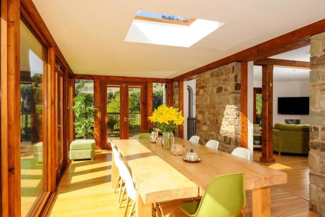 Glazed dining room