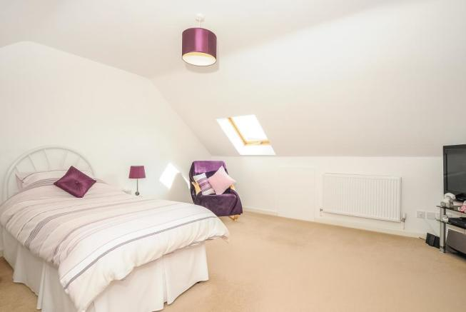 One of 2 double bedrooms on the first floor