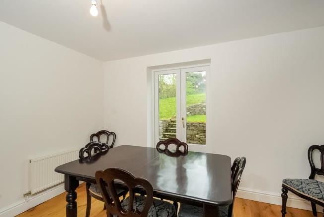 Separate dining room with door to the rear garden