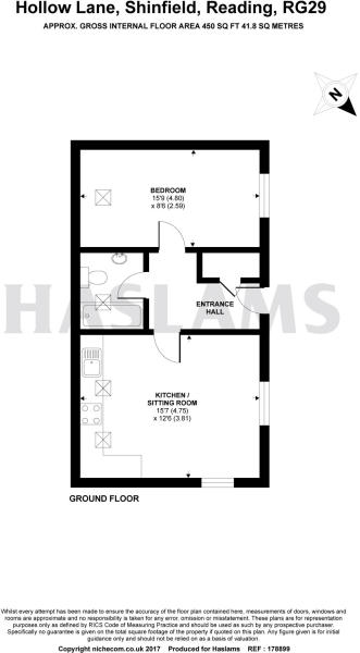 1 bed floorplan
