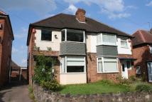 semi detached property to rent in Coventry Road, Sheldon...