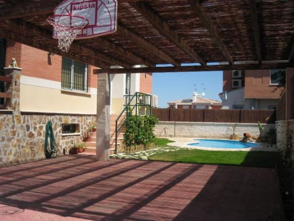 Pool and garden and