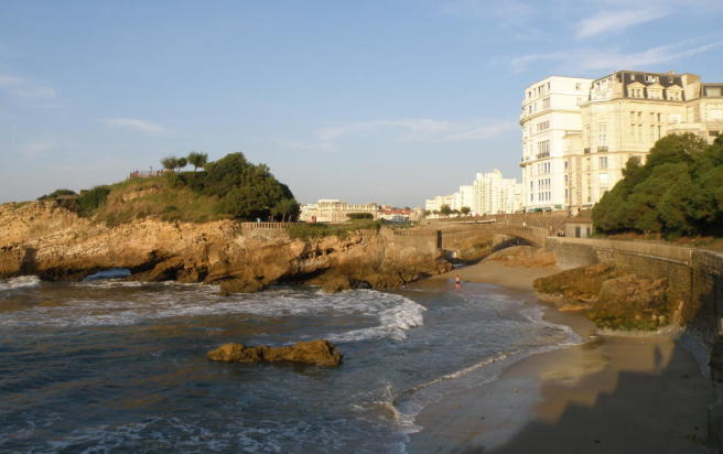 Cove in Biarritz