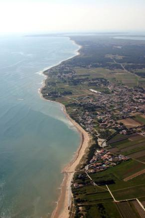 Aerial view of coast