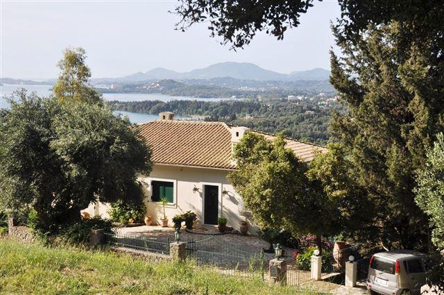 the villa with its views