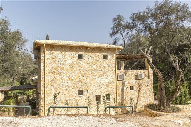 rear of the villa