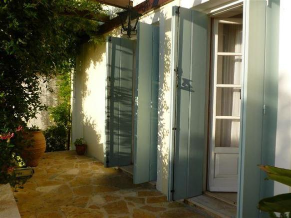 French doors onto the garden