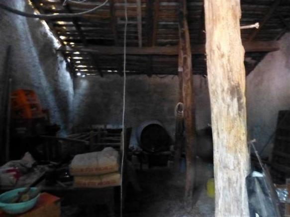 inside the stone shed