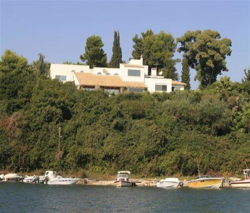 view of villa from the sea