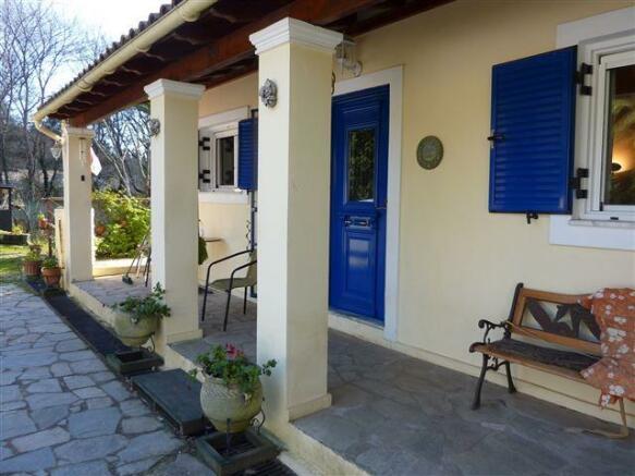 Front door and covered verandah