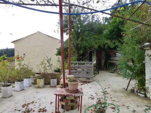 inside the courtyard garden