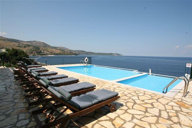 pool terrace and view to the sea