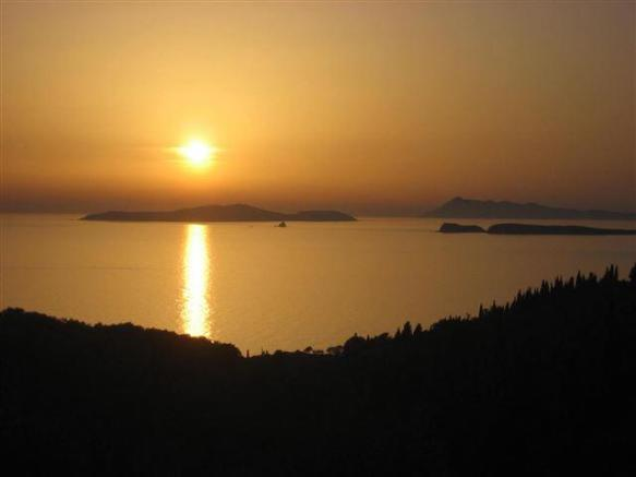 sunset over the Diapaontia island