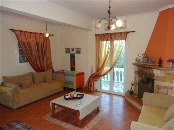 living room of villa