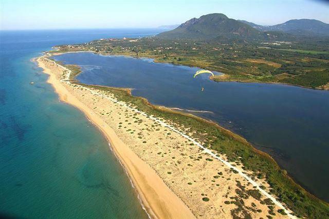 learn to kite surf from Halikouna beach!