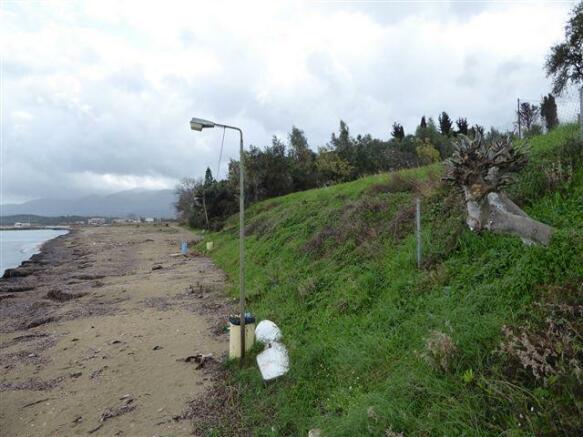 where the land meets the beach