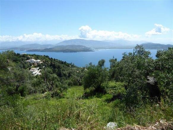 the view towards the hamlet of Vigla