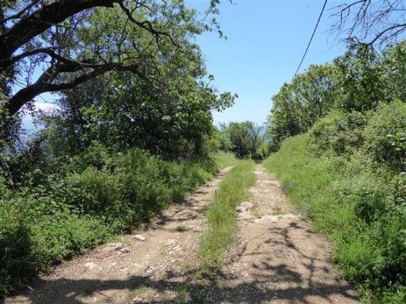 the track near the land
