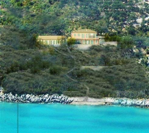 view of the projected villa from the sea