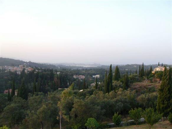 view towards Corfu Town