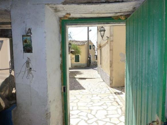 view from the door towards the road