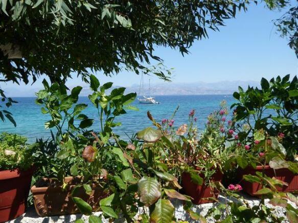 garden and beach view