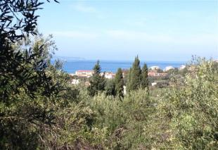 plot above Arillas with sea view